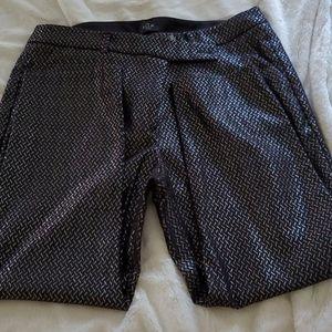 WHBM the skinny black silver pants 14S